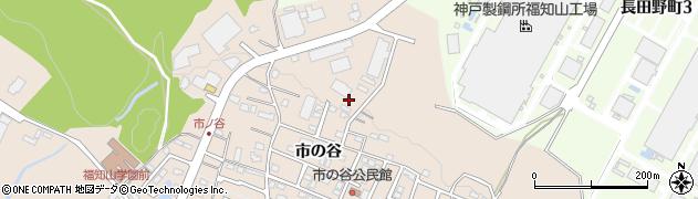 京都府福知山市市の谷周辺の地図