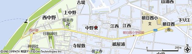 愛知県一宮市上祖父江(中野東)周辺の地図