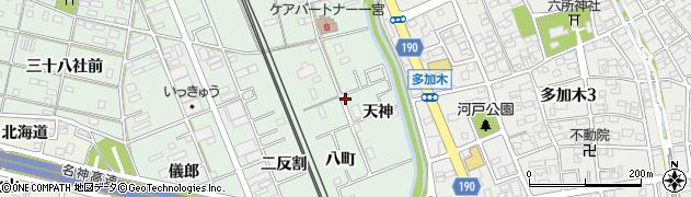 愛知県一宮市大和町妙興寺(天神)周辺の地図