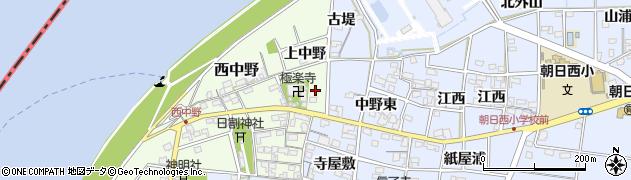 愛知県一宮市西中野(上中野)周辺の地図