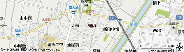 愛知県一宮市明地(蛇山)周辺の地図