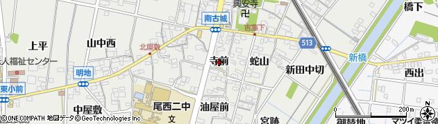愛知県一宮市明地(寺前)周辺の地図