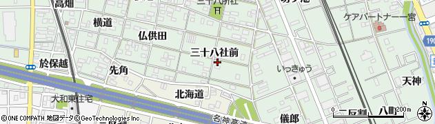 愛知県一宮市大和町妙興寺(三十八社前)周辺の地図