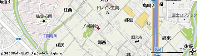 愛知県一宮市丹陽町外崎(江東)周辺の地図