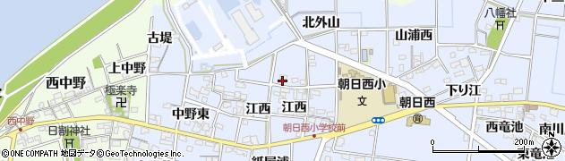 愛知県一宮市上祖父江(源蔵前)周辺の地図