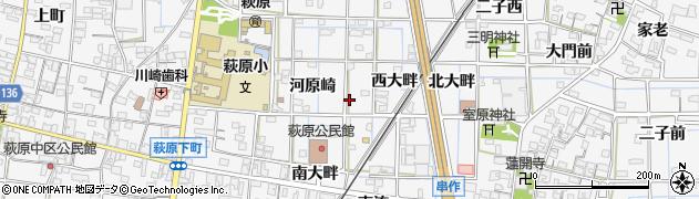 愛知県一宮市萩原町萩原(南落)周辺の地図