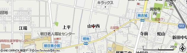 愛知県一宮市明地(山中西)周辺の地図
