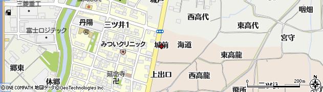愛知県一宮市丹陽町三ツ井(城前)周辺の地図