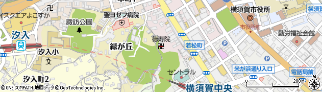 徳寿院周辺の地図