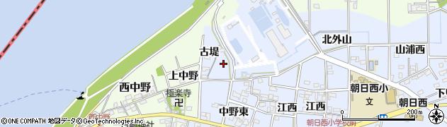 愛知県一宮市上祖父江(川田)周辺の地図
