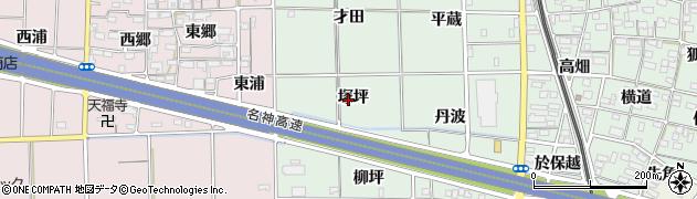 愛知県一宮市大和町妙興寺(塚坪)周辺の地図