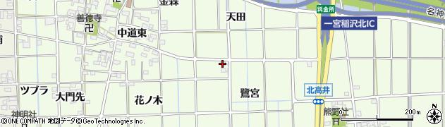 愛知県一宮市萩原町林野(沼石田)周辺の地図