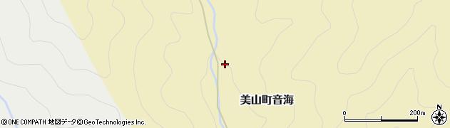 京都府南丹市美山町音海(上野)周辺の地図