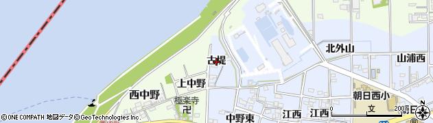 愛知県一宮市上祖父江(古堤)周辺の地図