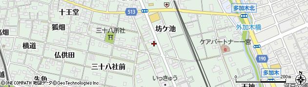 愛知県一宮市大和町妙興寺(坊ケ池)周辺の地図