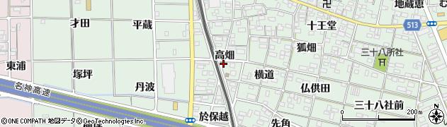 愛知県一宮市大和町妙興寺(高畑)周辺の地図