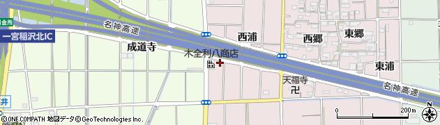 愛知県一宮市大和町戸塚(西浦)周辺の地図