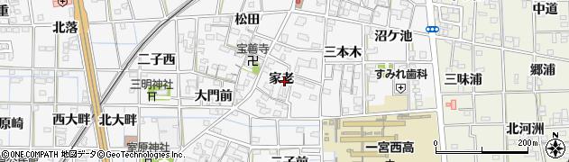 愛知県一宮市萩原町萩原(家老)周辺の地図