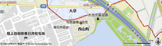 道場山住宅周辺の地図