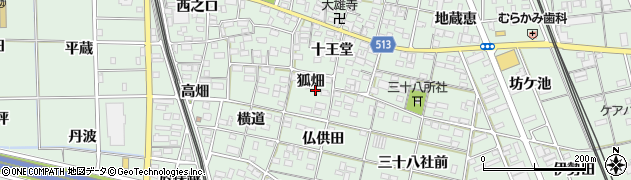 愛知県一宮市大和町妙興寺(狐畑)周辺の地図