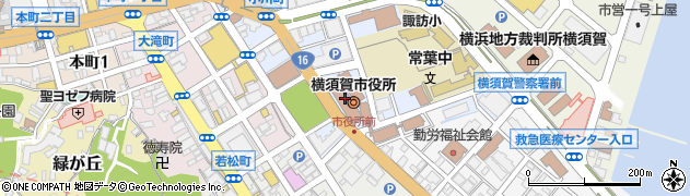 神奈川県横須賀市周辺の地図