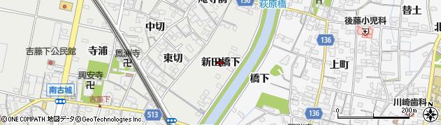愛知県一宮市明地(新田橋下)周辺の地図