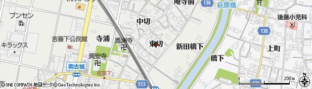 愛知県一宮市明地(東切)周辺の地図