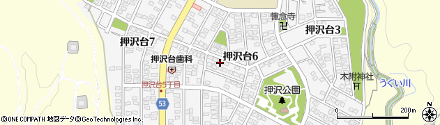 愛知県春日井市押沢台周辺の地図