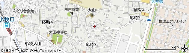 愛知県小牧市応時周辺の地図