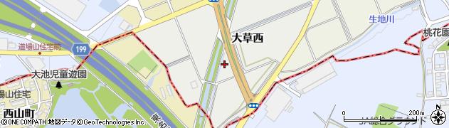 愛知県小牧市大草西周辺の地図