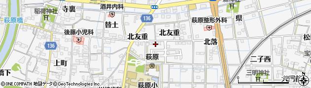 愛知県一宮市萩原町萩原(南友重)周辺の地図