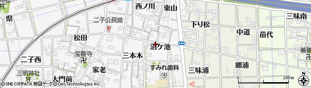 愛知県一宮市萩原町萩原(沼ケ池)周辺の地図