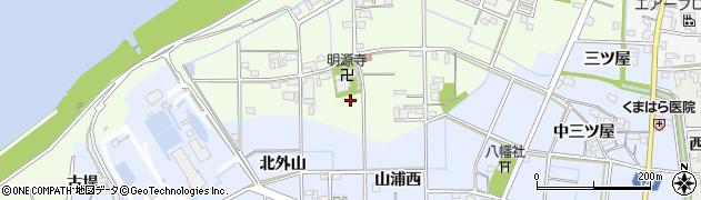 愛知県一宮市東加賀野井周辺の地図
