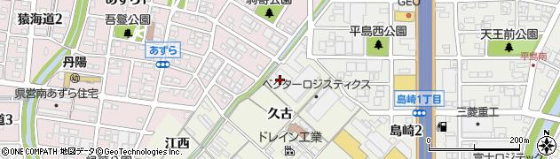 愛知県一宮市丹陽町吾鬘(向江)周辺の地図