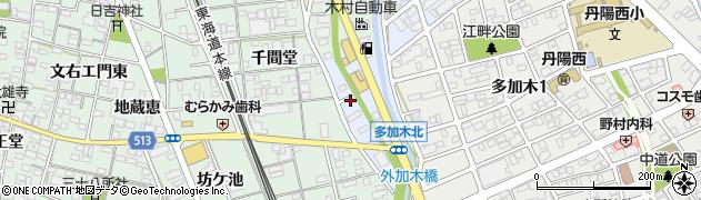 愛知県一宮市丹陽町多加木(浅間堂)周辺の地図
