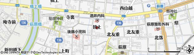 愛知県一宮市萩原町萩原(替土)周辺の地図
