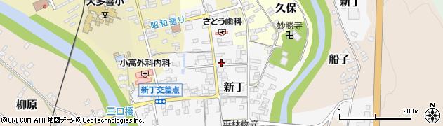 千葉県大多喜町(夷隅郡)新丁周辺の地図