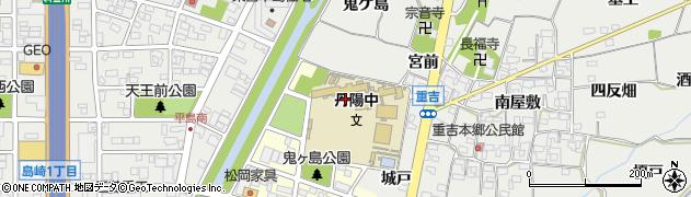 愛知県一宮市丹陽町三ツ井(鬼ケ島)周辺の地図