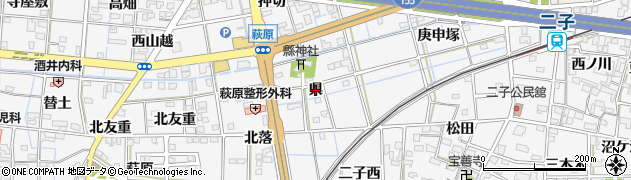 愛知県一宮市萩原町萩原(県)周辺の地図