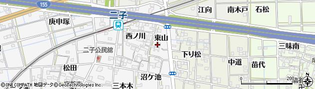 愛知県一宮市萩原町萩原(東山)周辺の地図