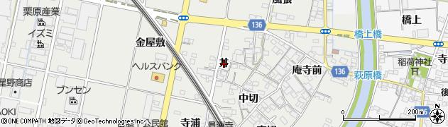 愛知県一宮市明地(丼)周辺の地図