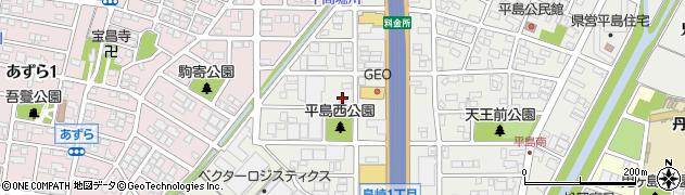 愛知県一宮市島崎周辺の地図