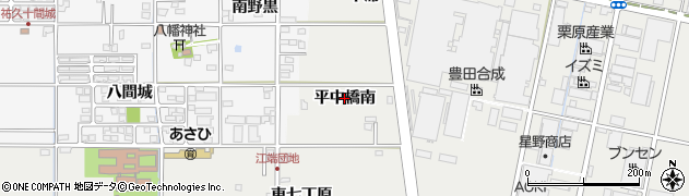 愛知県一宮市明地(平中橋南)周辺の地図