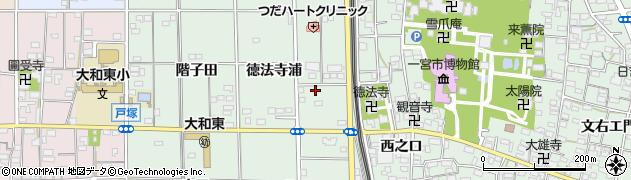 愛知県一宮市大和町妙興寺(徳法寺浦)周辺の地図