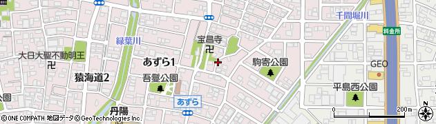 愛知県一宮市あずら周辺の地図