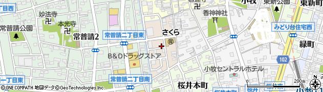 愛知県小牧市桜井周辺の地図