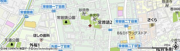 愛知県小牧市常普請周辺の地図
