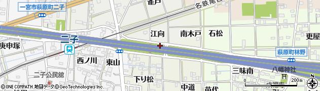 愛知県一宮市萩原町河田方(富田境)周辺の地図