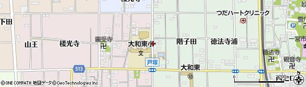 愛知県一宮市大和町妙興寺(階子田)周辺の地図
