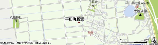 岐阜県海津市平田町勝賀周辺の地図